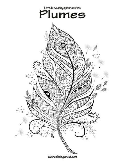 Livre de coloriage pour adultes Plumes 1 by Nick Snels
