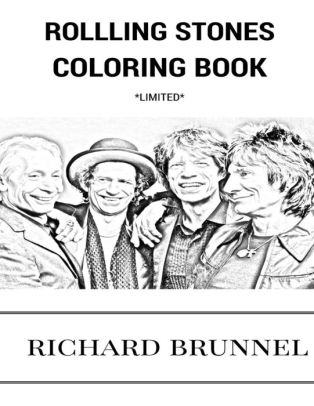 Rolling Stones Coloring Book: English Blue Masters and
