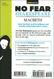 Macbeth No Fear Shakespeare Series by SparkNotes