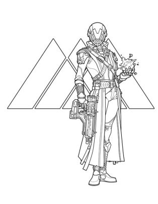 Destiny: The Official Coloring Book by Bungie, Ze Carlos