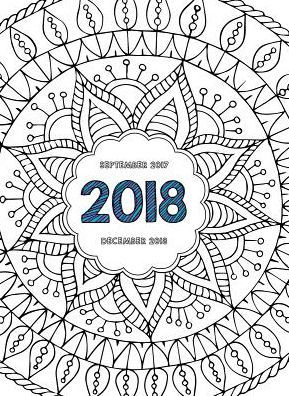 2018 Color Me Monthly Planner by TF Publishing, Calendar
