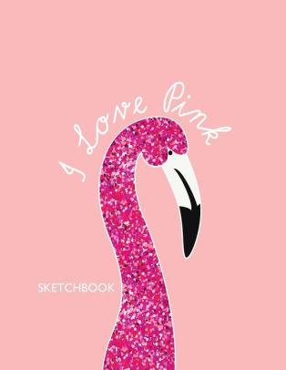 i love pink sketchbook