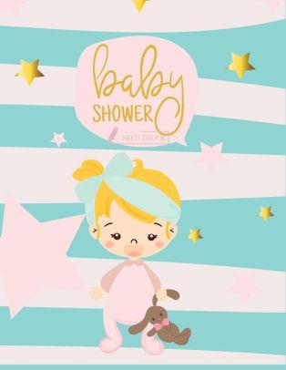sketch book baby shower