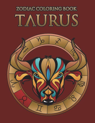 zodiac coloring book taurus