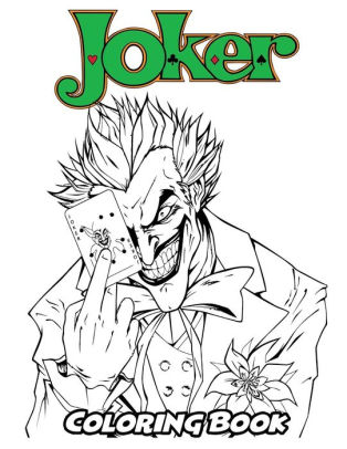Joker Coloring Pages : joker, coloring, pages, Joker, Coloring, Book:, Adults,, Activity, Easy,, Relaxing, Pages, Alexa, Ivazewa,, Paperback, Barnes, Noble®