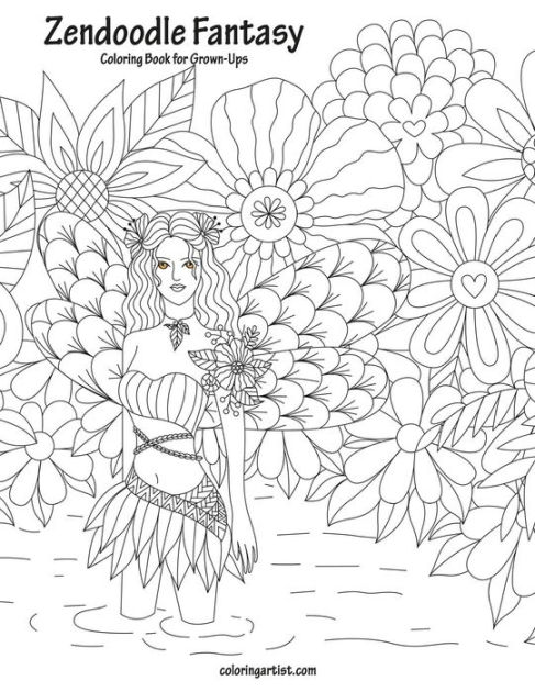 Zendoodle Fantasy Coloring Book for Grown-Ups 1 by Nick