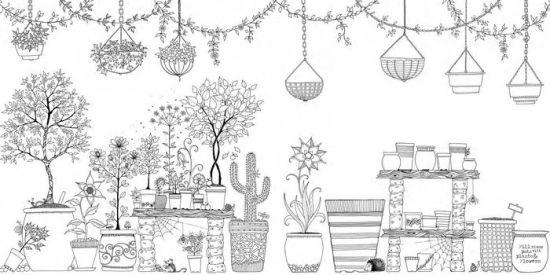 Secret Garden: An Inky Treasure Hunt and Coloring Book by