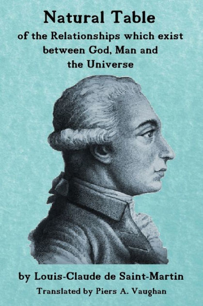 Natural Table: Natural Table Of Correspondences Which Exist Between God,  Man And The Universe By Louis-Claude De Saint-Martin, Paperback | Barnes &  Noble®