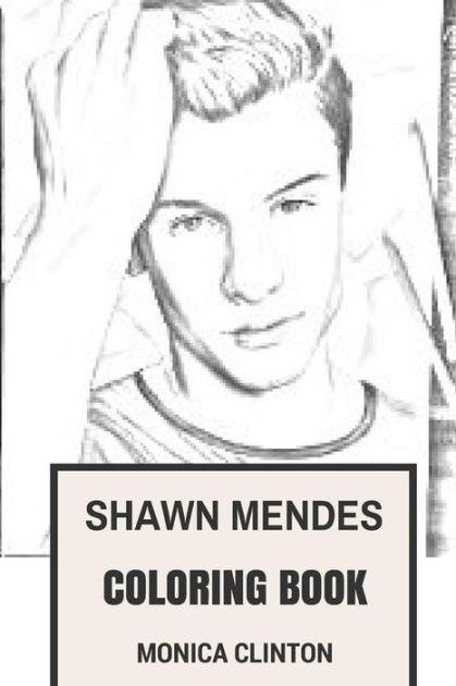 Shawn Mendes Coloring Book: Canadian Pop Rock Sensation