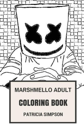 Marshmello Adult Coloring Book: Future Bass Prodigy and