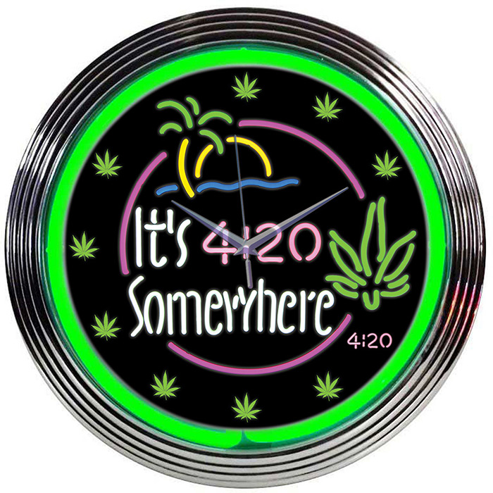 Its 4 20 Somewhere Neon Clock Clocks Neon Signs- Every Thing Neon