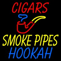 Custom Cigars Smoke Pipes Hookah Neon Sign 3 Custom Neon ...