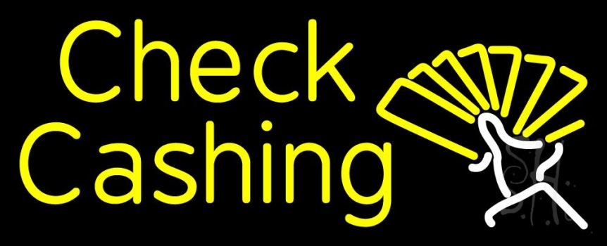 Check Cashing Neon Sign  Pawn Neon Signs  Neon Light