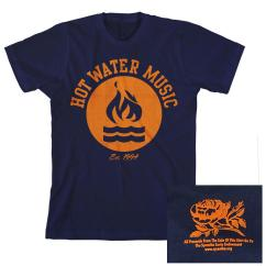 Hot Water Music Shirt Horse Hoof Anatomy Diagram 1994 Flame Navy Sfac