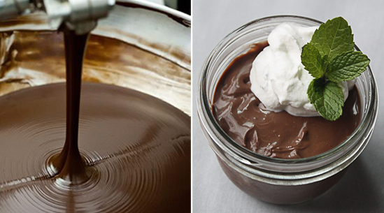 Chocolate Budino with Mint Whipped Cream