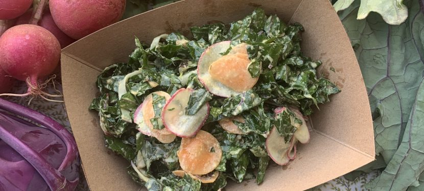 Kale Salad with Tahini Lemon Dressing