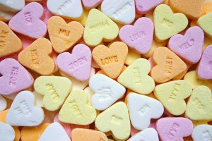 candy, hearts, food