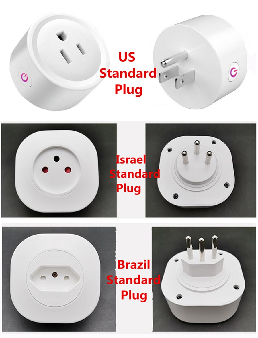 Wifi Smart Plug 16a Eu Uk Adaptor Wireless Remote Voice Control Power Energy Monitor Outlet Timer Socket For Alexa Google Home Product Best