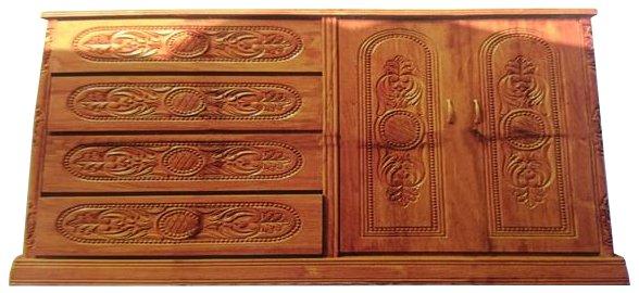 Al Modina AMFW 30 Wardrobe 2 Doors Solid Shegun Wood Price