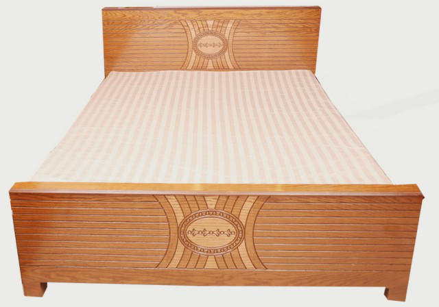 Veneered Bed Oak Wood Lacquer Paint VB2 Furniture Price