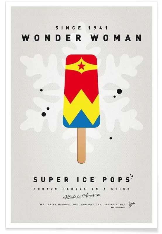my superhero ice pop wonder woman poster