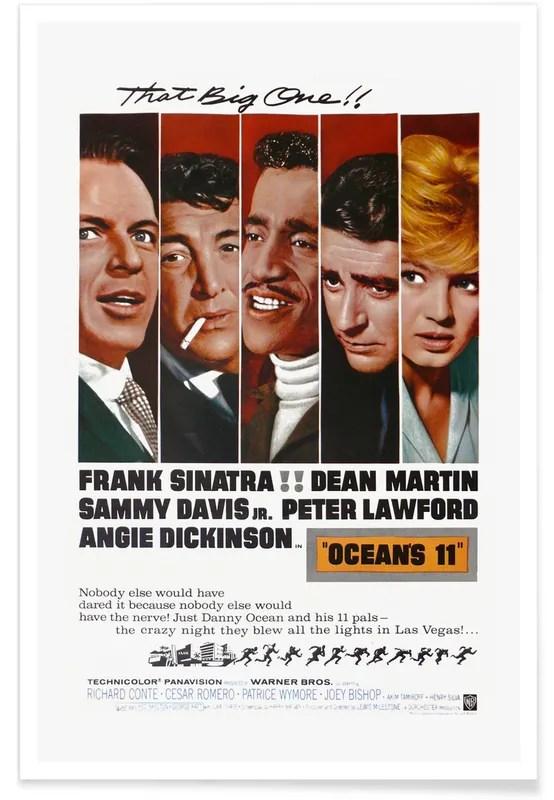 ocean s 11 retro movie poster