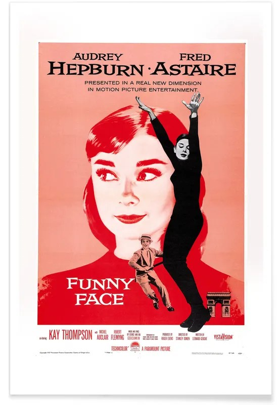 funny face retro movie poster