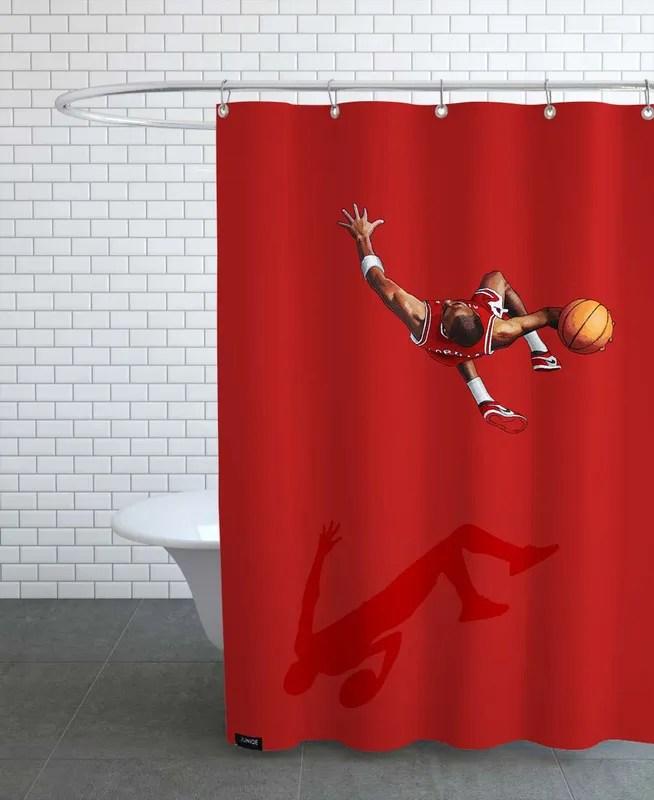 frequent fliers jordan shower curtain