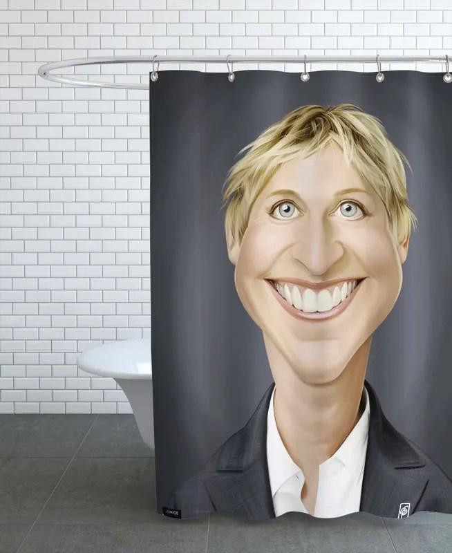 ellen degeneres shower curtain