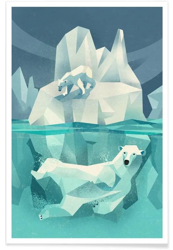 vintage polar bear poster