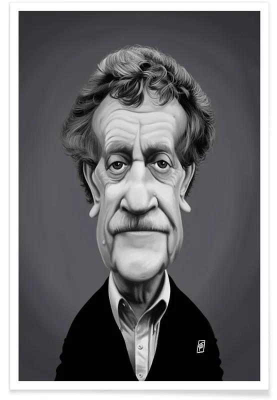 kurt vonnegut caricature poster