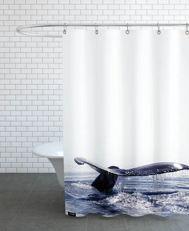 whale song iceland shower curtain