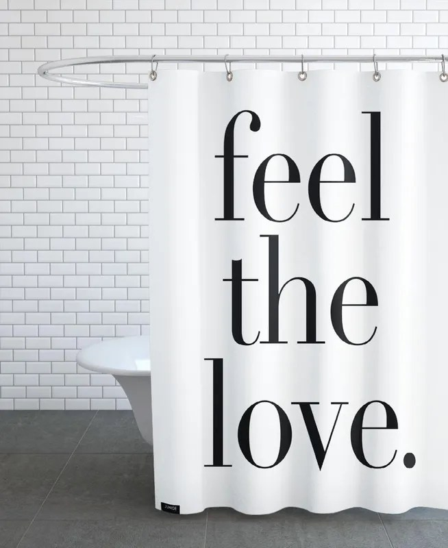 feel the love shower curtain