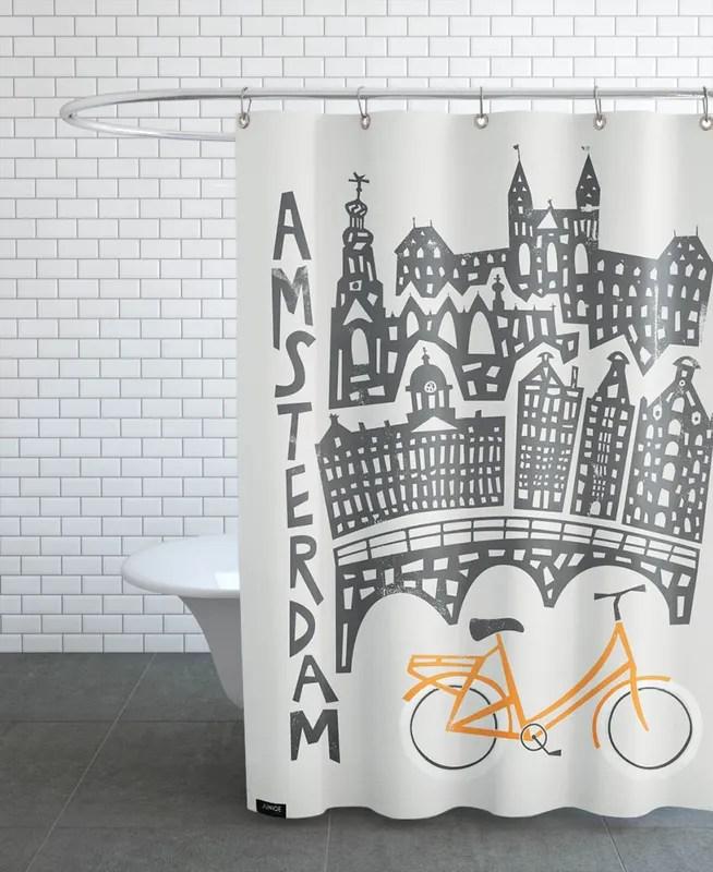 amsterdam cityscape shower curtain