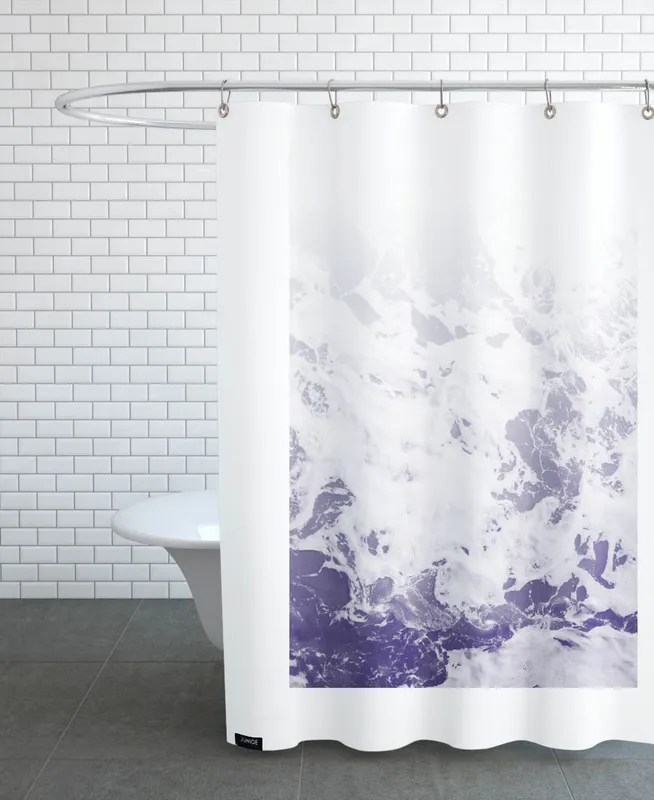 purple ocean shower curtain