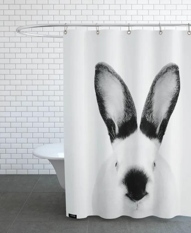 rabbit classic shower curtain