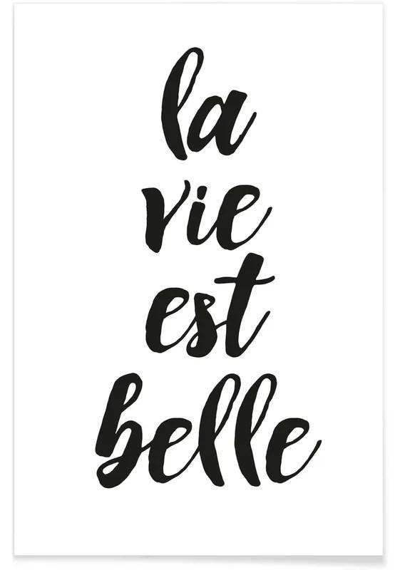 Texte La Vie Est Belle : texte, belle, Belle, Affiche, JUNIQE