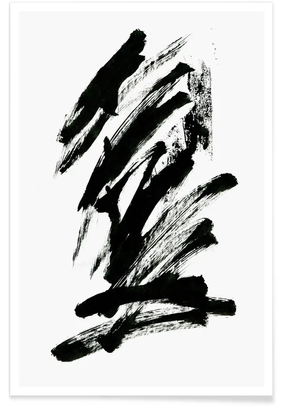 black abstract poster