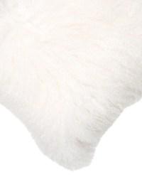 Adrienne Landau Mongolian Lamb Fur Throw Pillow - Bedding ...