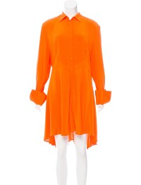 Alexander McQueen Silk A-Line Dress - Clothing - ALE41594 ...