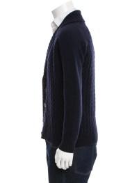 AMI Alexandre Mattiussi Merino Wool Shawl Collar Cardigan