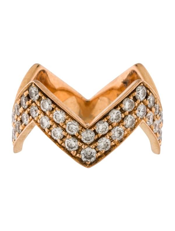 Anita Ko 18k Diamond Zig Zag Ring - Rings Ani20090