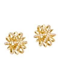 Alexandra Mor 18K Diamond Snowflake Earrings - Earrings ...