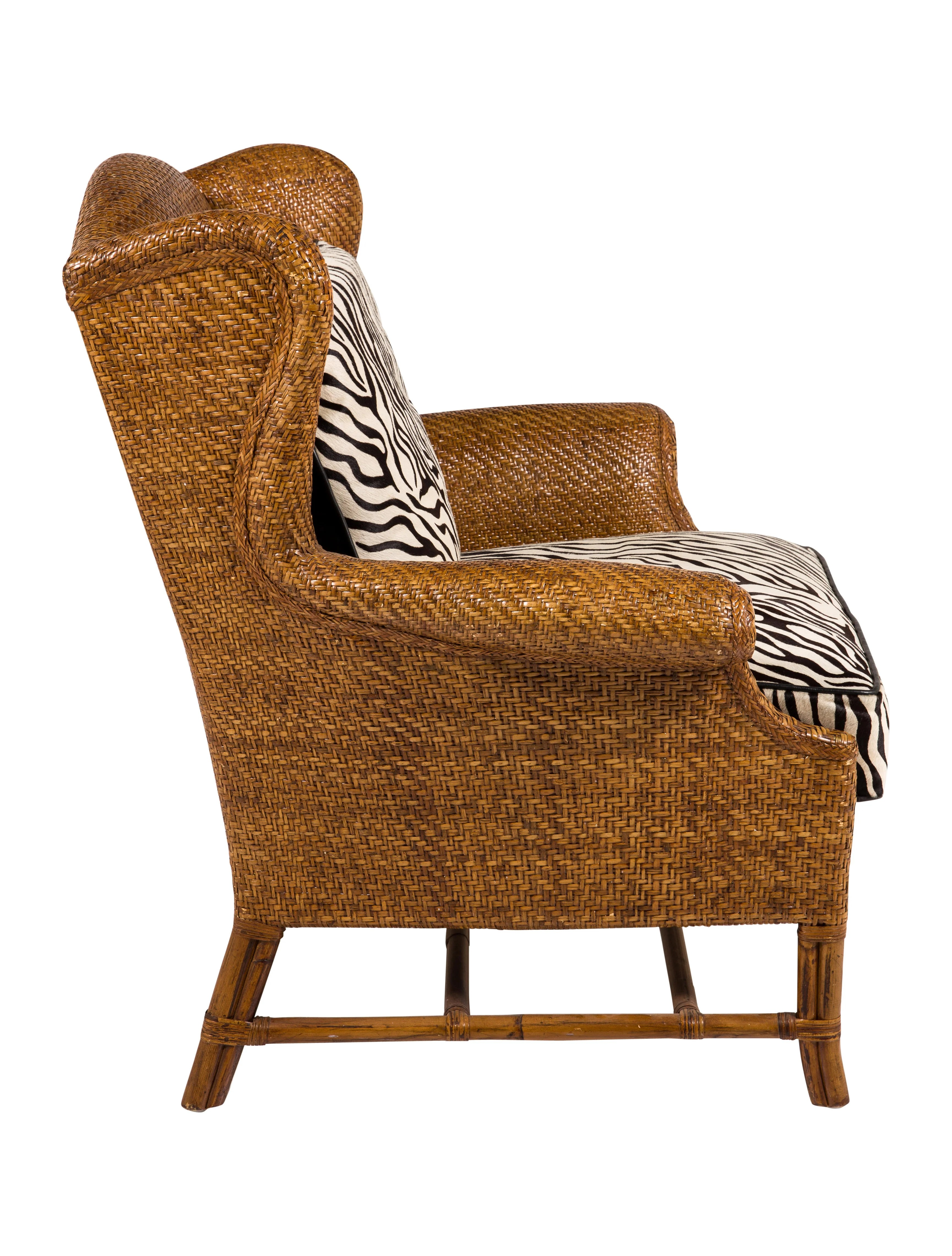 rattan wingback chairs fishing chair very baker milling road wing furniture
