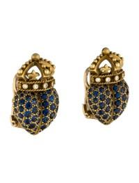 Barry Kieselstein-Cord Sapphire & Diamond Crown Heart ...
