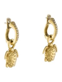 Barry Kieselstein-Cord 18K Diamond Turtle Drop Earrings ...