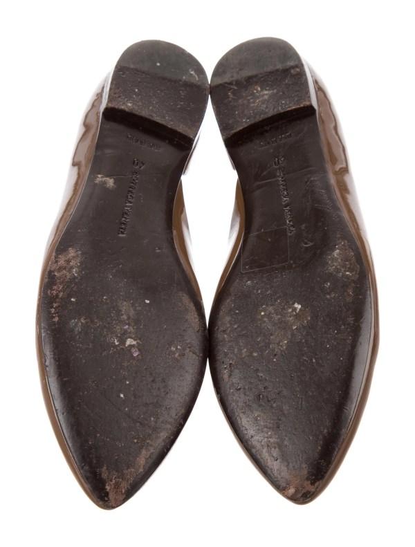 Bottega Veneta Patent Leather Ballet Flats Shoes