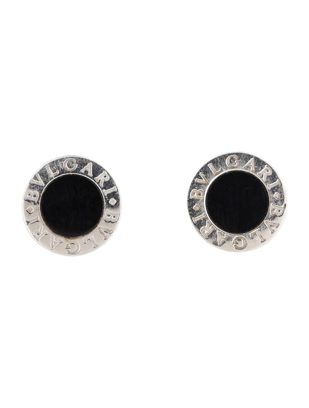 Bvlgari Onyx Stud Earrings