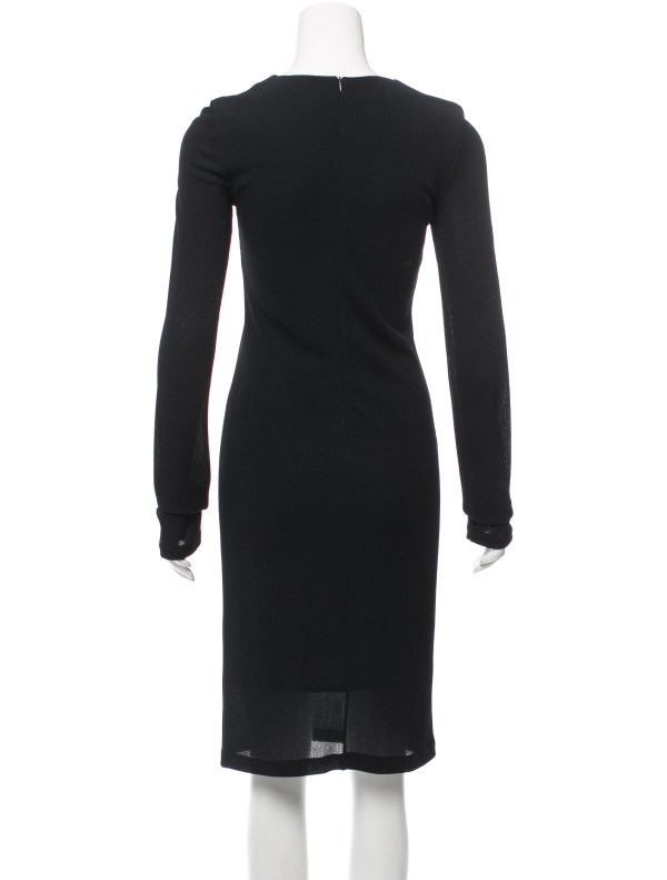 Calvin Klein Collection Long Sleeve Midi Dress - Clothing