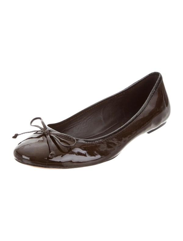 Coach Patent Leather Ballet Flats Shoes CCH22063 The